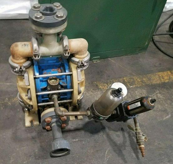 """Used 1"""" Diaphragm Pneumatic Pump for water or chemical in unknown condition"""