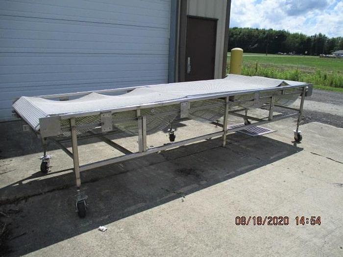 "Used Conveyor, 40""Wx13'6""L, plastic belting"