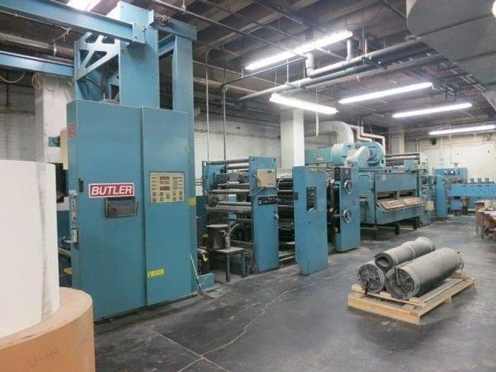 """Used 1989 Timson T32 Single Color Web Offset Press - 38.5"""" Circumference x 40"""" width"""