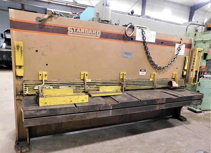 Used Standard Inustrial 10' x 3/8 Hydraulic Shear AS 375-10