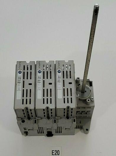 Used PREOWNED Allen Bradley 194R-J60-1753 Ser. A 3P 60A 600V Rotary Disconnect Switch