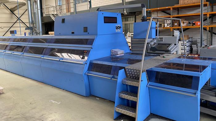 Used 2009 Muller Martini C12 Pefect Binder with 10 Stations