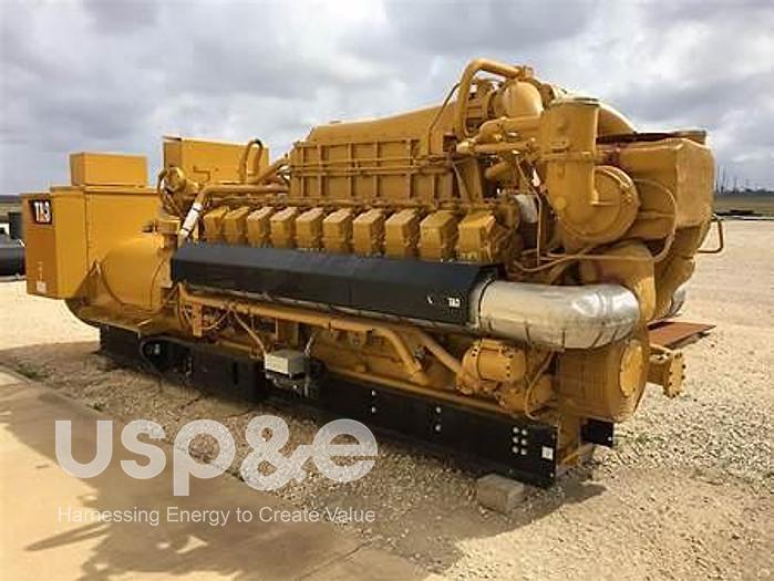 3 MW 2008 New Caterpillar PU4000B-ER Natural Gas Generator