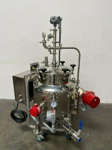 Used Glacier Stainless Steel 145L Tank w/ Heating Element & Gauges, Explosion Proof