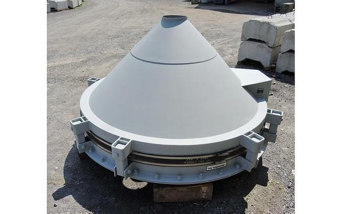 USED VIBRATING CONE/BIN ACTIVATOR, 8' DIAMETER, CARBON STEEL