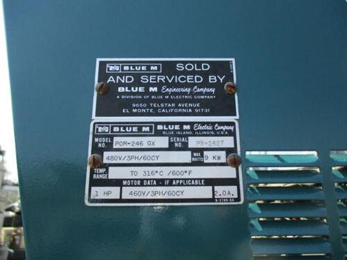 "BLUE M 24"" X 36"" X 48"" ID BURN IN OVEN 600 DEGREES MODEL POM-246 G"