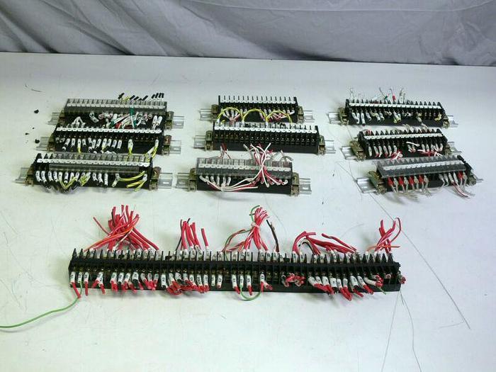 Used Lot of 225 - Kasuga TX10S Terminal Blocks w/ 9 Din Rails
