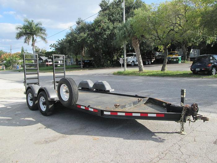 Low pro steel deck equipment trailer