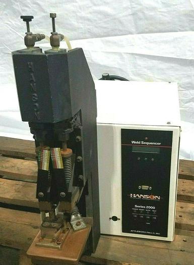 Used Hanson Weld Sequencer Series 2000 RESISTANCE WELDING & SOLDERING MACHINE