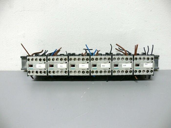 Used Lot of 6 - Siemens 10 E 3TF2010-0AB0 Contactor mounted on DIN Rail