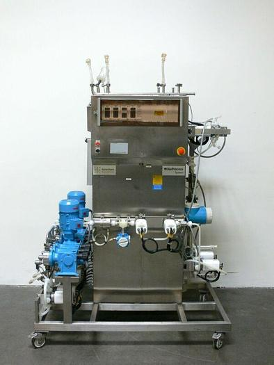 Used Amersham BioProcess System, Chromatography Skid w/ Promass 80M08