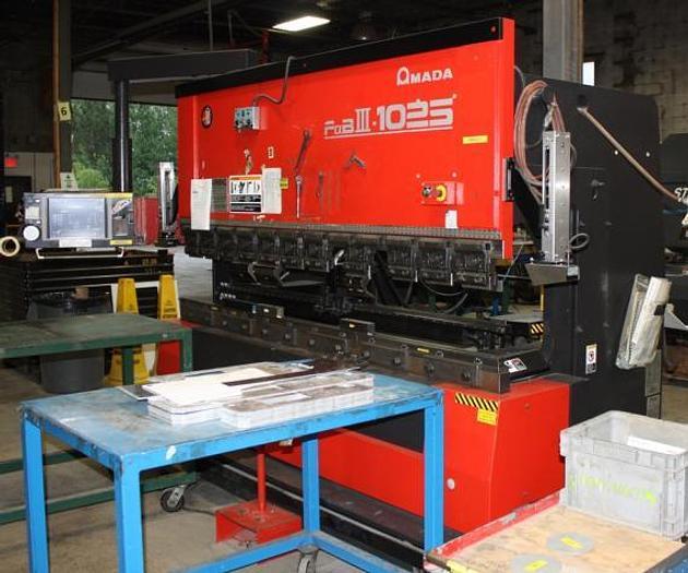 "110 TON X 98.4"", 2007, AMADA FBD 1025NT, CNC PRESS BRAKE"