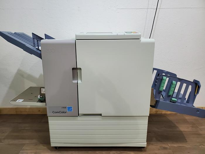 Used Riso Riso ComColor 7010R Full Color Inkjet Printer with Auto Stacking Tray. Only 450K Meter!