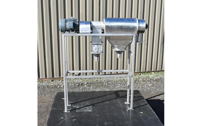 USED CENTRIFUGAL ROTARY SCREEN, STAINLESS STEEL, SANITARY
