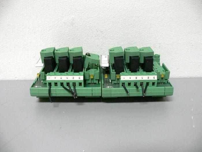 Used Lot of 2 - Phoenix Contact Typ UMK 2972673 UMK-4 OM-R/MF/P Optocoupler Module