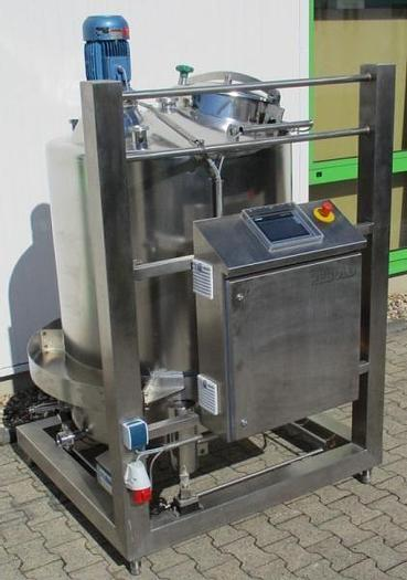 Used X 14566 D - Mixing Vessel HEBOLD HMS 800 on weigh cells