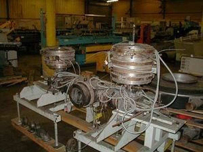 """Used 10"""" Die package mounted on block and infeed adapter"""