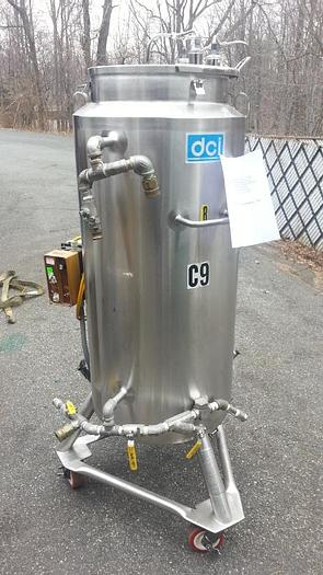 Used 50 GALLON DCI SANITARY MIX TANK - 316 S/S - JACKETED (#8475)