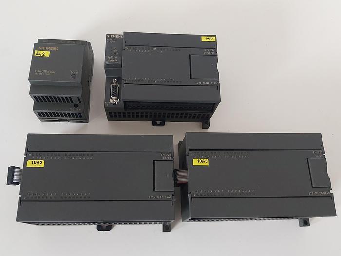 Gebraucht Komplette Simatik S7 200 Steuerung, CPU224 + 2x EM223, Siemens gebraucht
