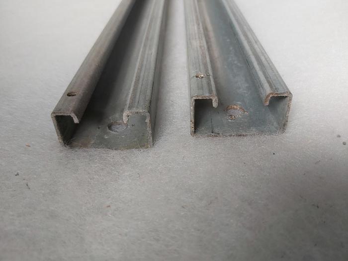 Gebraucht C Profilschiene 39x21x890mm, , Stahl verzinkt, gebraucht-Top