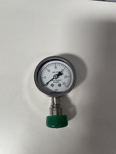 "Ashcroft 20-1032-S-75L-30# 2"" Sanitary Gauge 0-30 PSI"