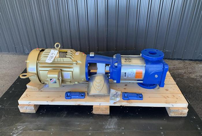 Used USED GOULDS CENTRIFUGAL PUMP, MODEL 33SVM  2.5'' X 2.5'' INLET & OUTLET, STAINLESS STEEL, UNUSED