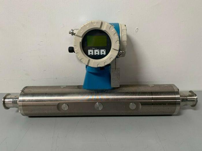 "Used Endress Hauser Promass M 83 83M50-AATFAAAAL2AK 2"" Triclamp Flowmeter 1500 PSI"