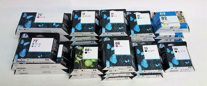 Used HP Officejet Designjet Ink Cartridges Varied Colors Expired Lot of 29 NEW (6595)
