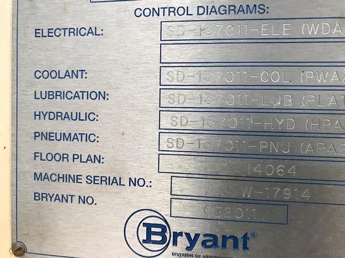 2009 BRYANT LECTRALINE LL2U-MS CNC ID GRINDER