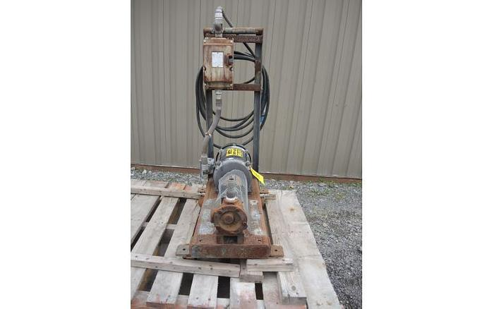 """USED GEAR PUMP, 1.25"""" X 1.25"""" INLET & OUTLET, CAST IRON"""