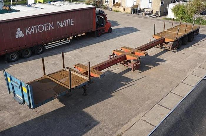 Used 1994 Broshuis 3AOU-48 / Double Extendable / 23.85M / Double Table / 3x Steering axle / ABS / BPW Drum / Air suspension / Timberstakes