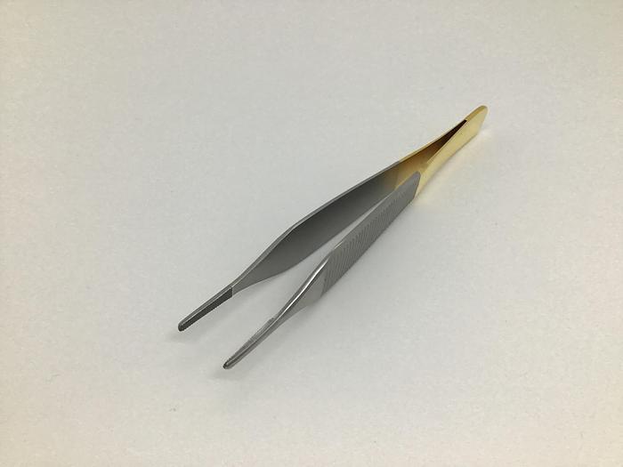 Tissue Forceps Adson Tungsten Carbide 125mm Plain