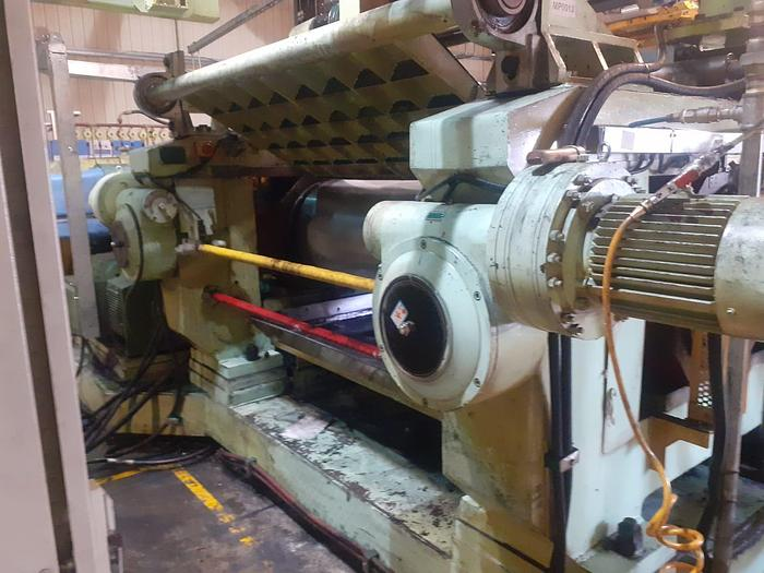 Used 2008 Qty 1 X Datong 1500mm wide two roll mill with stockblender  XK-550
