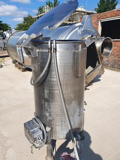 Used 200 Litre Stainless Steel Jacketed Melting Tank with Coil