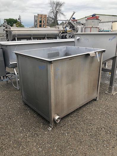 250 Gallon Rectangular Stainless Steel Tank,