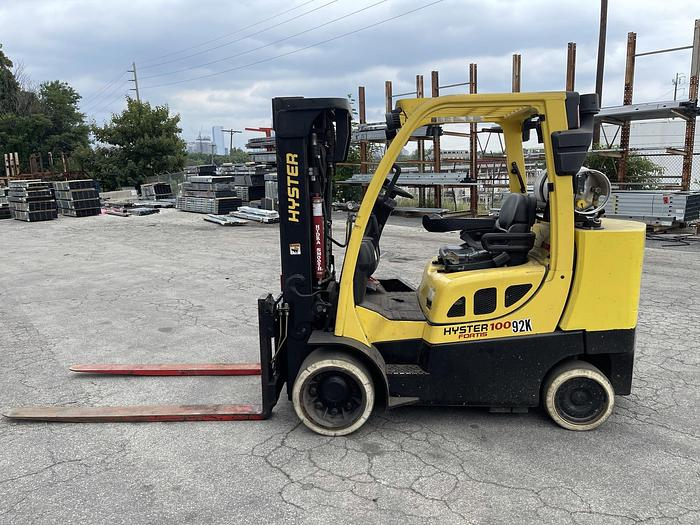 Used 10,000 POUND HYSTER S100FTBCS  MFG. 2012 WITH FORKS