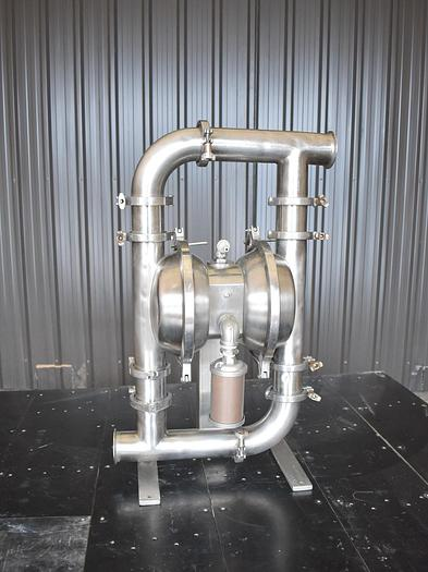 Used USED MURZAN DIAPHRAGM PUMP, 3'' INLET & OUTLET, STAINLESS STEEL, SANITARY