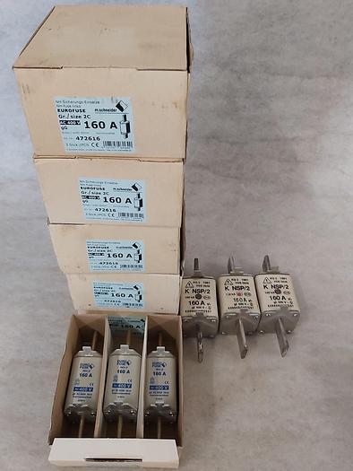 3 Stück NH Sicherungseinsätze Größe 2, 160A, NH-2, 400V, Eurofuse,  neuwertig