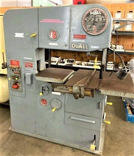 Used Doall Model 3613-2 Tilting Table Vertical Band Saw 36""