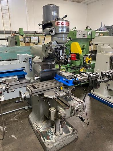 """Used Exacto 9"""" x 42"""" Step Pulley Milling Machine Servo Power Feed #5963"""