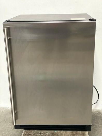"""Used ULINE 1224RF 24"""" Stainless Steel under-counter Refrigerator / Freezer Combo"""