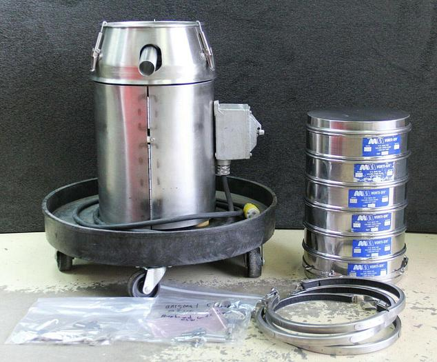 Used Vorti-SiV RBF-10 Vibratory Sieve Shaker Explosive Proof w/ 6 Sieves (6935)