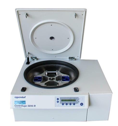 Used Eppendorf 5810 R Refrigerated Centrifuge W/A-4-62 Rotor, Buckets, Inserts 8098)W