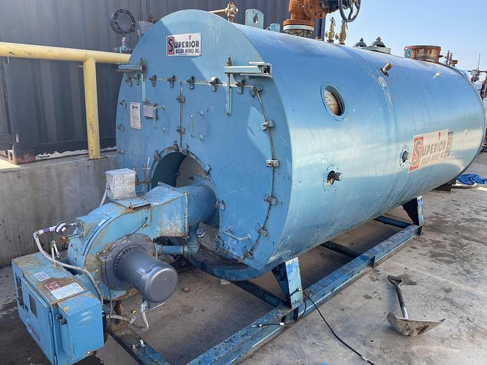 Used 2003 Superior Boiler 150 HP 150 PSI High Press Steam