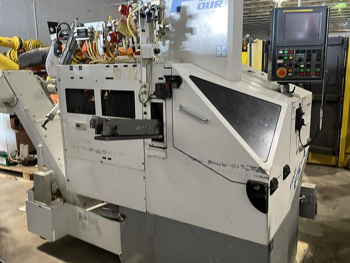 Used FUJI FS4-31 CNC GANG TOOL CNC LATHE WITH ROBOT LOADER