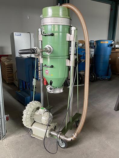 Gebraucht Absauganlage für Holzspäne RIBO-Silovorabscheider mit Filter Auf Fahrgestell