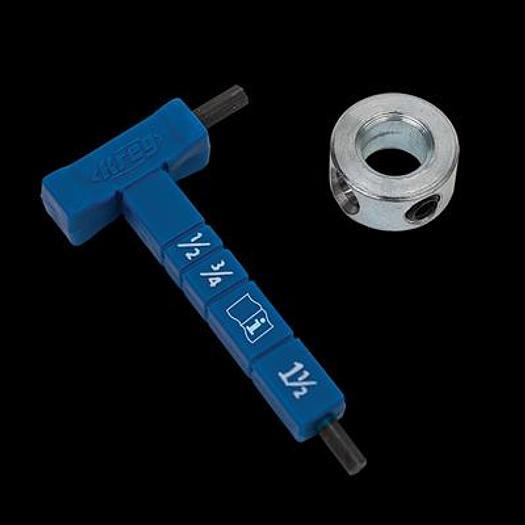 Kreg® Easy-Set Stop Collar & Material Gauge/Hex Wrench Kit