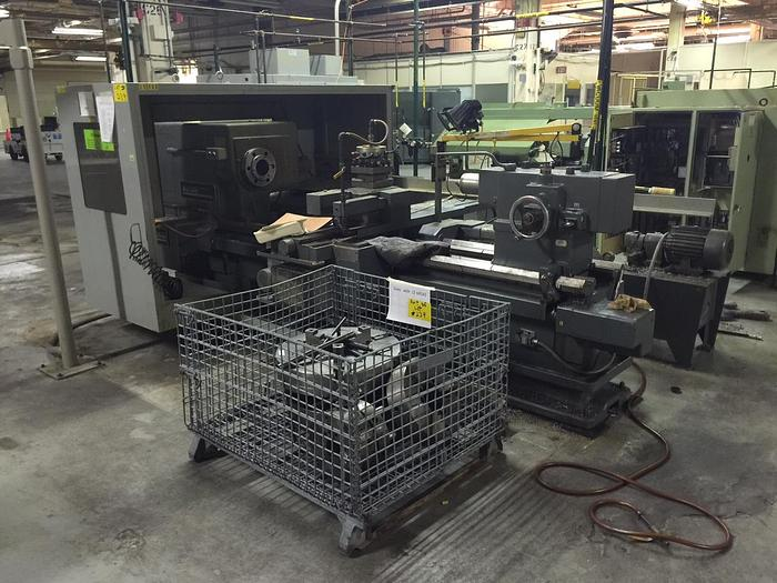 "Used 32 x 72"" American CNC Engine Lathe"