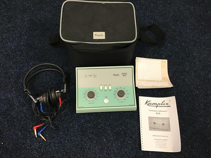 Used Kamplex Audiometer in case KS8