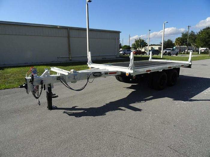 Used Allegheny Flatbed T/A AB Extendable Pole Trailer - 69389